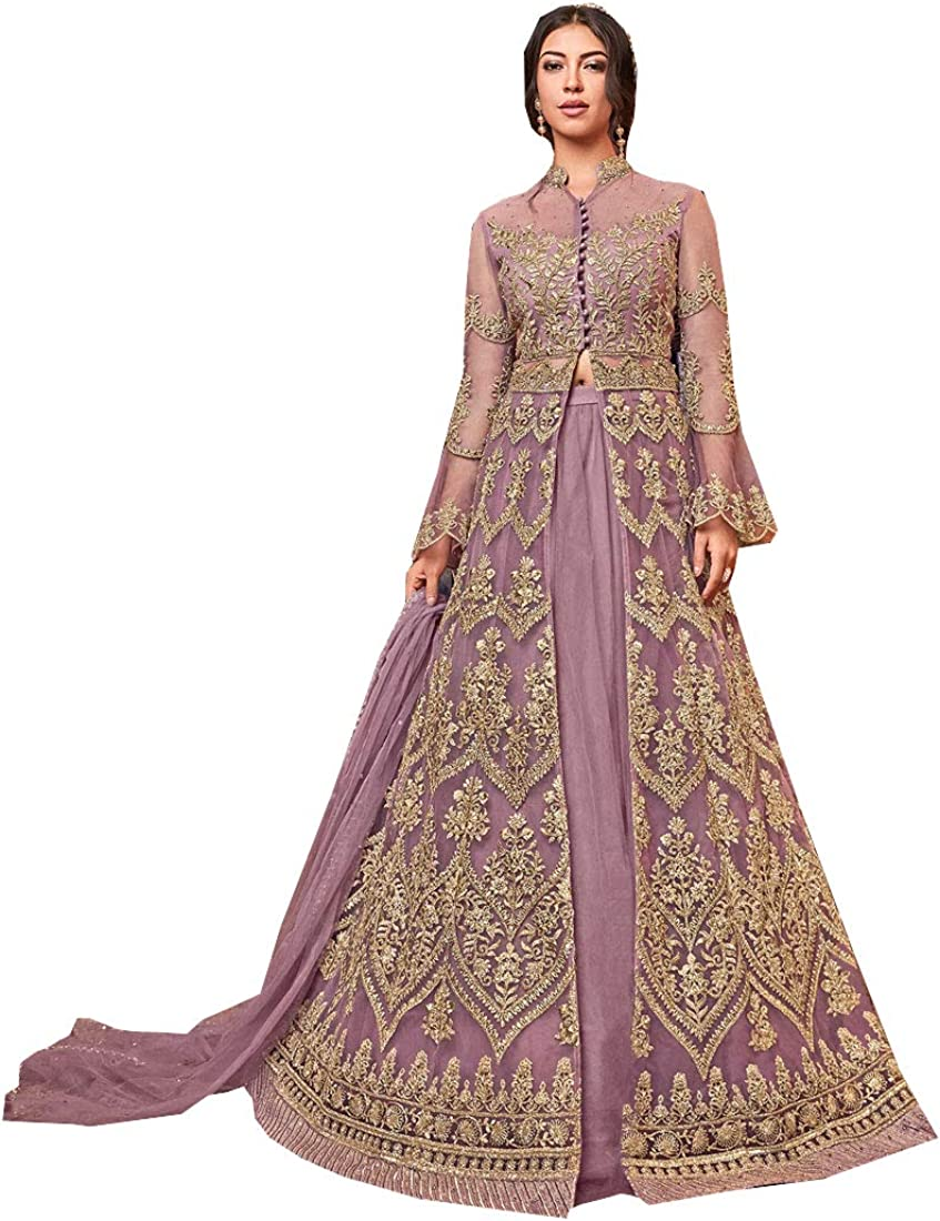 Delisa New Indian Pakistani Bollywood Party Wedding Wear Various Style Suit For Women Violate N 2020 At Amazon Women S Clothing Store