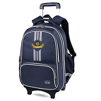 7b573609d821 COOFIT School Backpacks with Wheels Kids Trolley Bag Rolling Backpack  Children s Backpack Wheeled Backpacks for School  Amazon.co.uk  Luggage
