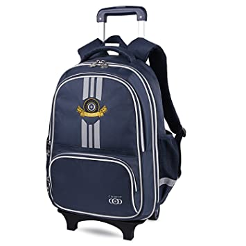 78ffad2460b4 COOFIT School Backpacks with Wheels Trolley Rolling Backpack Children s  Wheeled for  Amazon.in  Bags