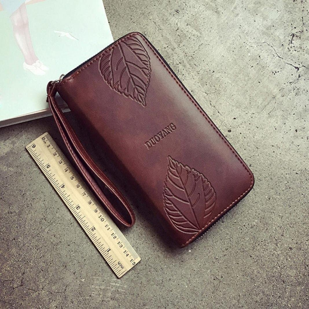 Red Womail Women New Fashion Long Wallet Card Coin Change Holder Handbags