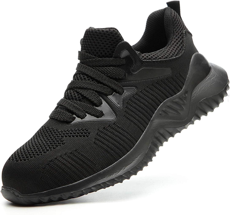 YQKCEL Steel Toe Shoes Men Lightweight