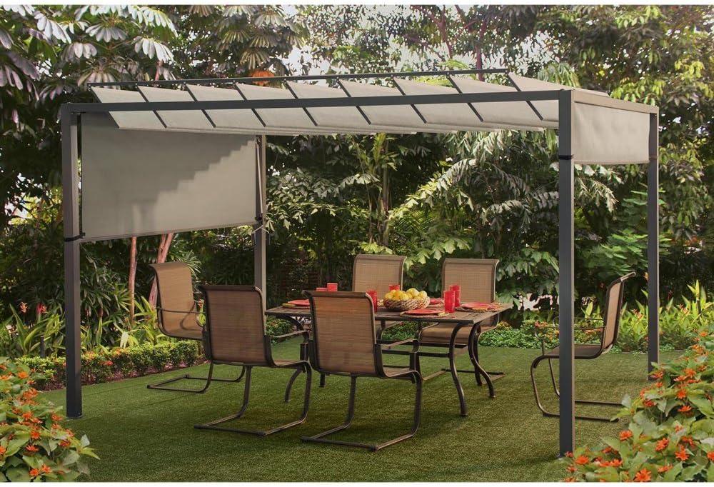 Sunjoy 12, 1 x 9.6 Ft. apersianado Pergola: Amazon.es: Jardín