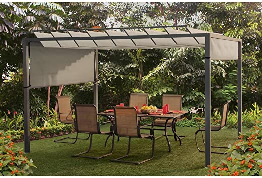 Sunjoy 12, 1 x 9.6 Ft. apersianado Pergola: Amazon.es: Jardín