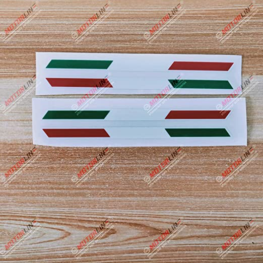 3S MOTORLINE 6 White+Italian Flag Color Made in Italy Perfected in My Garage Decal Sticker