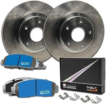 Max Brakes Rear Premium OE Rotors and M1 Supreme Pads Brake Kit KM078542-2