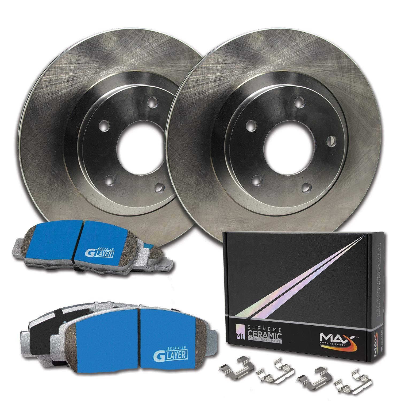 Max Brakes Rear Supreme Brake Kit OE Series Rotors + Ceramic Pads Fits: 2007 07 2008 08 2009 09 2010 10 Kia Rondo KM084942