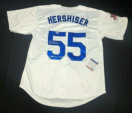 fd2697912 Orel Hershiser Signed 1988 World Series Dodgers Jersey quot 88 WS  Champ quot  6A06828 - PSA
