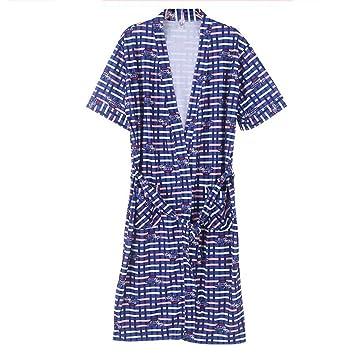 Albornoces GAOLILI Pijamas de Manga Corta de Verano de Algodón para Hombres de Verano Pijamas de