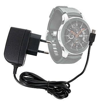 DURAGADGET Cargador (1 Amperio) para Samsung Galaxy Watch - con Conexión Micro USB Y Enchufe Europeo De Pared - Certificado por La CE