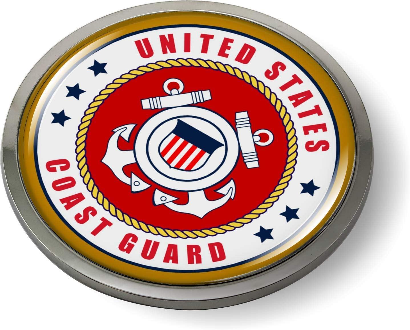 US FIRE DEPARTMENT 3D Domed Emblem Badge Car Sticker Chrome ROUND Bezel