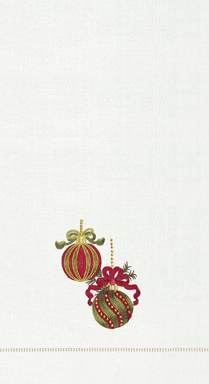 CFF Adornos de árbol de Navidad con Rayas Bordadas Toallas de Mano - Juego de 2: Amazon.es: Hogar