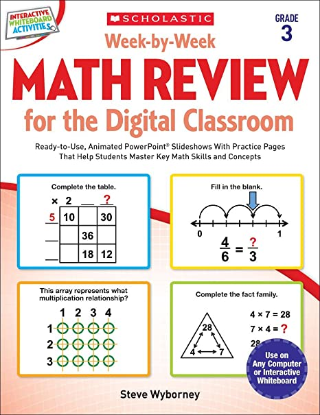 Week-by-Week Math Review for the Digital Classroom: Grade 3: Ready ...
