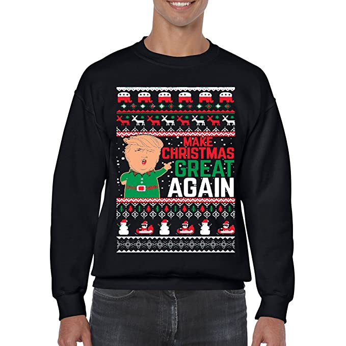 AW Fashions Makes Christmas Great Again- Funny Donald Trump - Xmas Shirt Funny Ugly Christmas