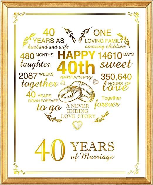 HUSBAND ANNIVERSARY CARD FOIL HIGH QUALITY GOLD