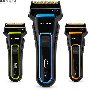 Pritech – Afeitadora (inalámbrico, recargable, doble cabezal ...