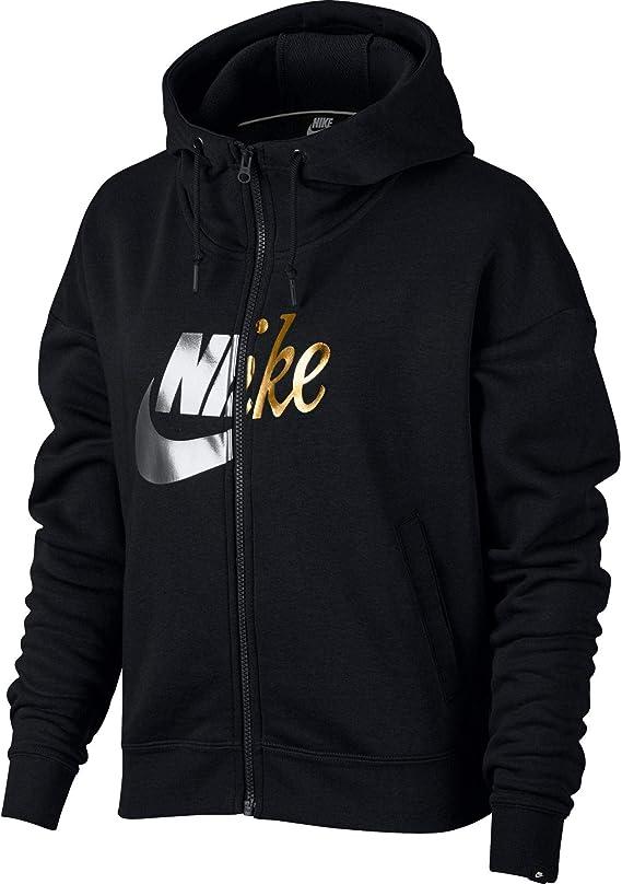 Nike NSW Rally Hoodie FZ W Metallic Veste, Femme: