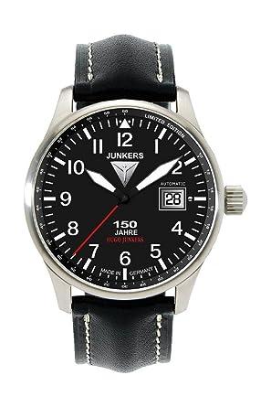 Junkers Herrenuhr Leder Sonstige analog Automatik Leder 6654-2  Amazon.de   Uhren f8af5a89eb1