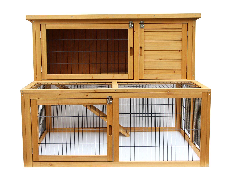 Exacme 6010-4019 Lovupet Deluxe Wooden Chicken Coop Backyard Nest Box Pet Cage, 48''