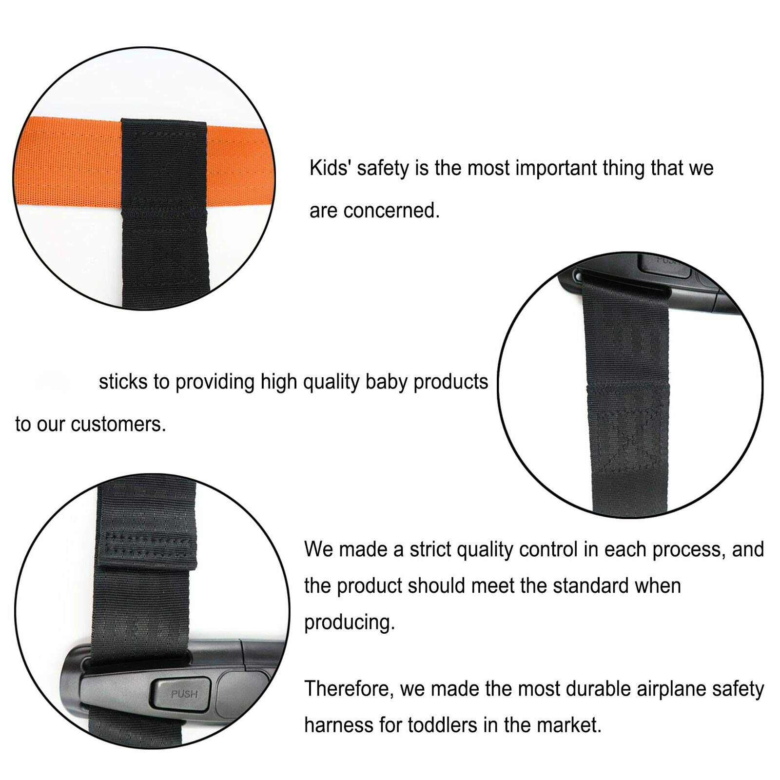 Child Airplane Travel Harness - Cares Safety Restraint System - The Travel Harness Safety System Will Protect Your Child from Dangerous - Black by CVFOX (Image #2)