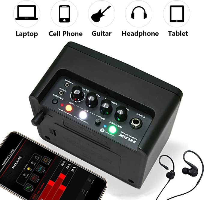 Asmuse Amplificador de Guitarra 3W Eléctrico Portatil Bajo Combo ...