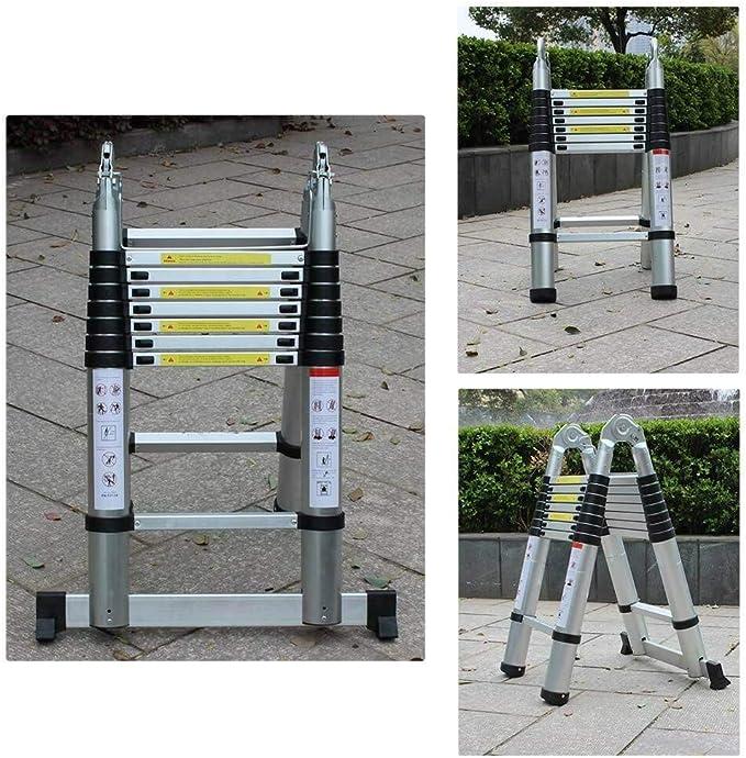5 m, aluminio Escalera telesc/ópica Zephyri