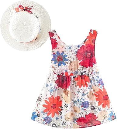 Toddler Baby Girl Overall Princess Dress Ruffle Sleeveless Princess Summer Sundress Outfits Sibling Set