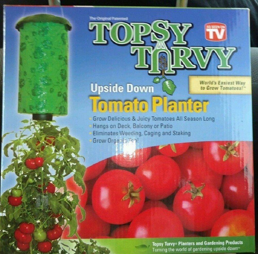 Sawan Shop 1 Topsy Turvy Upside Down Tomato Planter w/Vertical Grow Bag - World's Easiest
