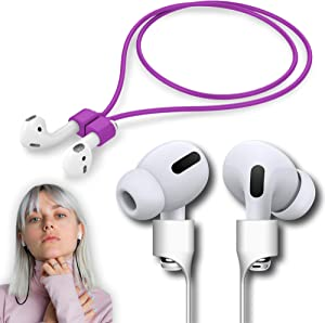 Ultra Strong Magnetic Strap Airpods Anti-Lost Cord Sports Leash String – Accessories Compatible with Airpods Pro/2/1(Purple)