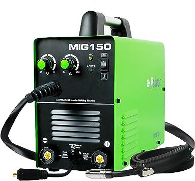 MIG Welder MIG175 Gas//Gasless AC 220V 1KG//5KG Flux Core Wire and Solid Wire IGBT Inverter Welding Machine MMA MIG MAG Stick Welder 3 in 1