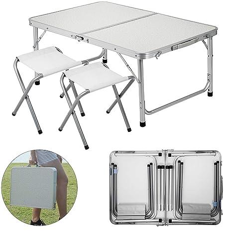 Marvelous Amazon Com Happybuy Folding Picnic Table White 4 Person Machost Co Dining Chair Design Ideas Machostcouk