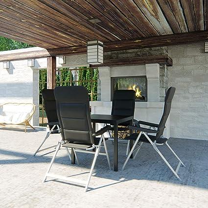 OSKAR - Silla Plegable de Camping con Respaldo Alto, de Aluminio, Unisex, 2er Set Silber-Grau: Amazon.es: Deportes y aire libre