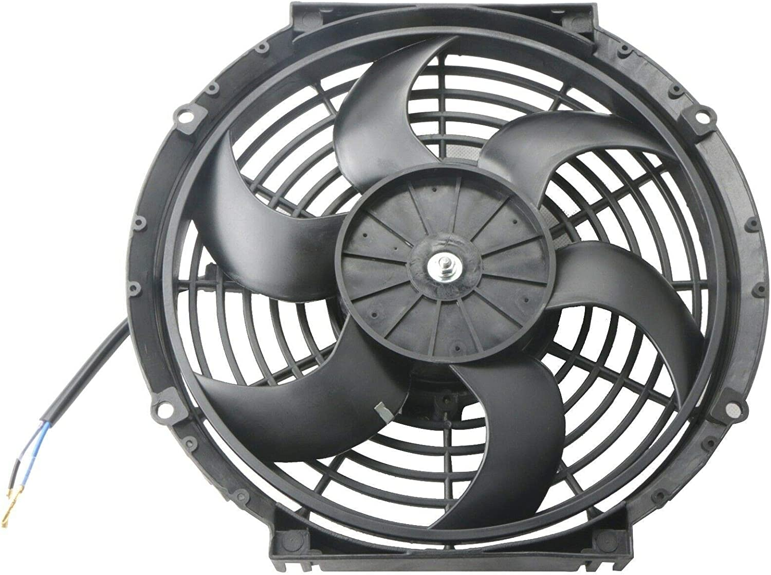 Fan Mounting Kit 12, Red LTI Universal High Performance S Blade Pull//Push 12V Slim Electric Cooling Radiator Fan