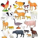 Large Farm Animals Figures, Realistic Simulation Jumbo Plastic Farm Animal Toys Learning Educational Playset Party…