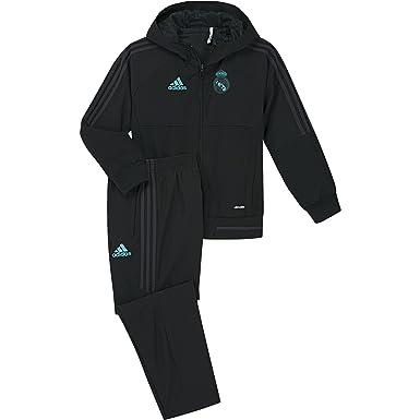 adidas Pre I Chándal con Diseño Real Madrid Temporada 2017/2018, Niños