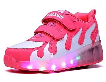 Sr. ANG Unisex LED luz rodillo de zapatos rollos ajustable patines patines patines en línea