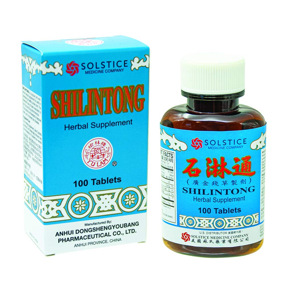 Shilintong Herbal Supplement (Supports Urinary Tract, Kidney & Bladder Stone Cleanse)(100 Tablets)(1 Bottle)(Solstice)