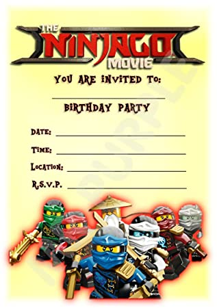 The Lego Ninjago Movie Birthday Party Invites Portrait Lego Design