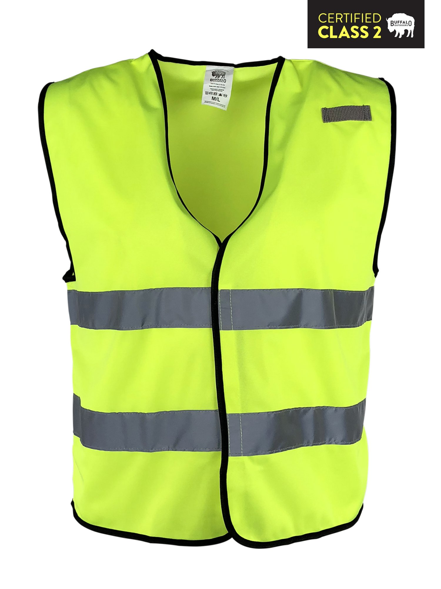 Hi Vis Reflective Safety Vest, Multi-purpose: Running, Construction, Work, Cycling, Motorcycle Safety, Dog Walking - High Visibility Lime, By Buffalo Outdoors (3XL/4XL)