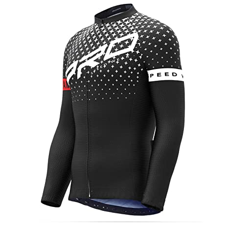 ec6dfbc709c Image Unavailable. Image not available for. Color  Roadbox Cycling Jersey - Men s  Full Zip Moisture Wicking Running Long Sleeve Tops Mountain Bike Biking