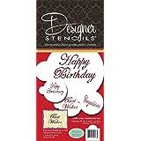 Amazon Com Designer Stencils C241 Fancy Happy Birthday Cake Stencil