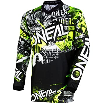 Pants W36 // Jersey X-Large ONeal Element Factor Gray//Blue//Neon Hi-Viz Adult motocross MX off-road dirt bike Jersey Pants combo riding gear set