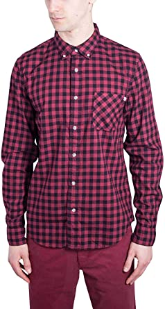 Timberland Check Mens Camisa Roja A1OBWM49