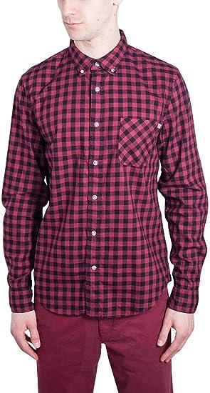 Timberland Check Mens Camisa Roja A1OBWM49: Amazon.es: Ropa y accesorios