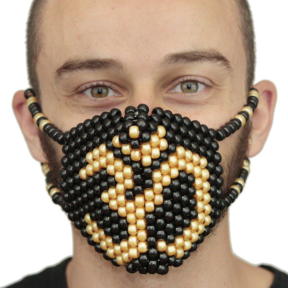 Kandi Gear Gold Namaste Ohm Yogi Surgical Yoga Kandi Mask