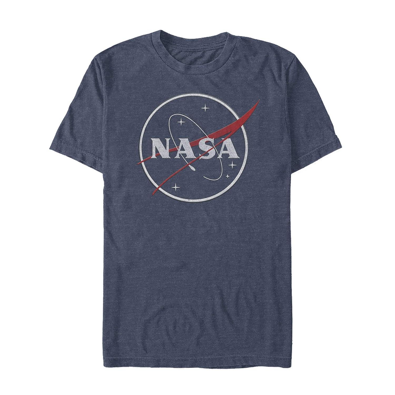 Fifth Sun NASA Mens Sleek Glitter Logo T-Shirt