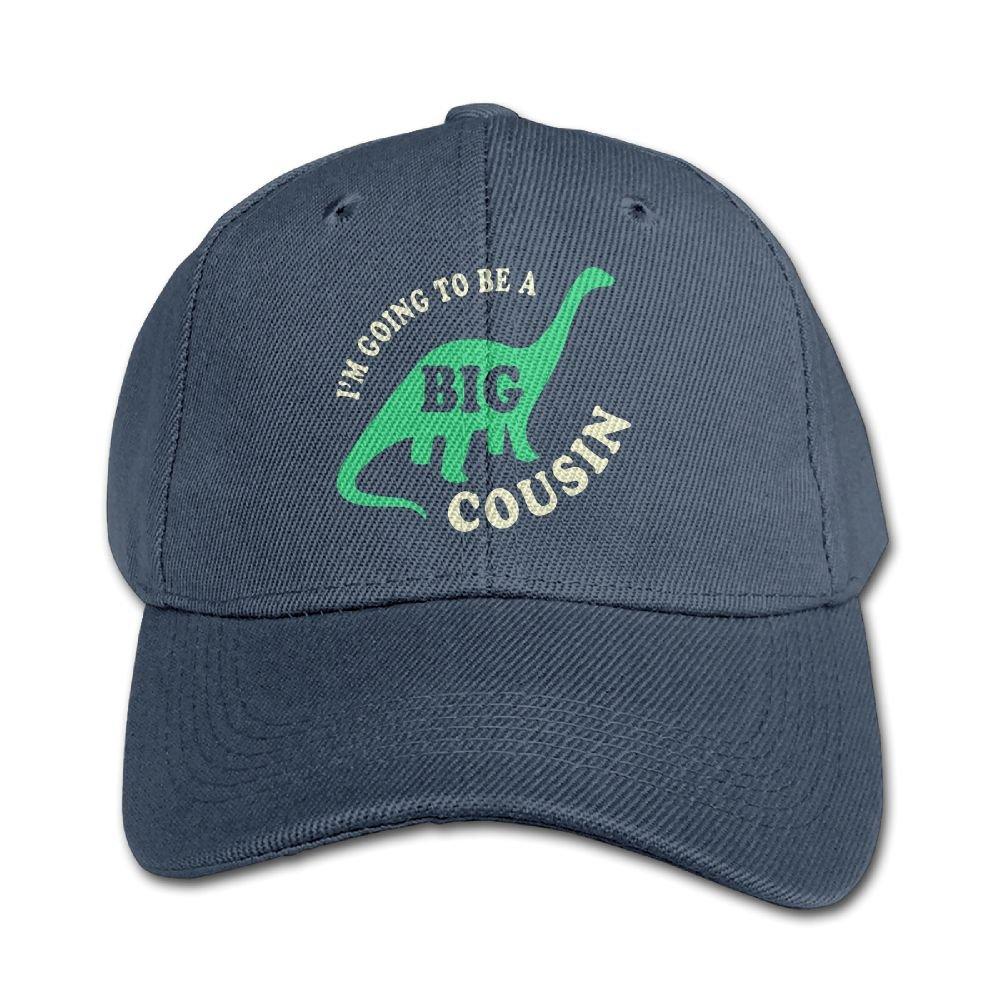 Haibaba Im Going to Be A Big Cousin Boys and Girls Black Baseball Caps Solid Hats