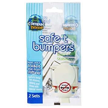 Enjoyable Compac Home Toilet Seat Stabilizers Safe T Bumpers Lock Seat Safely In Place Keeps Children Elderly Disabled Safe From Slipping Off Shaking Forskolin Free Trial Chair Design Images Forskolin Free Trialorg
