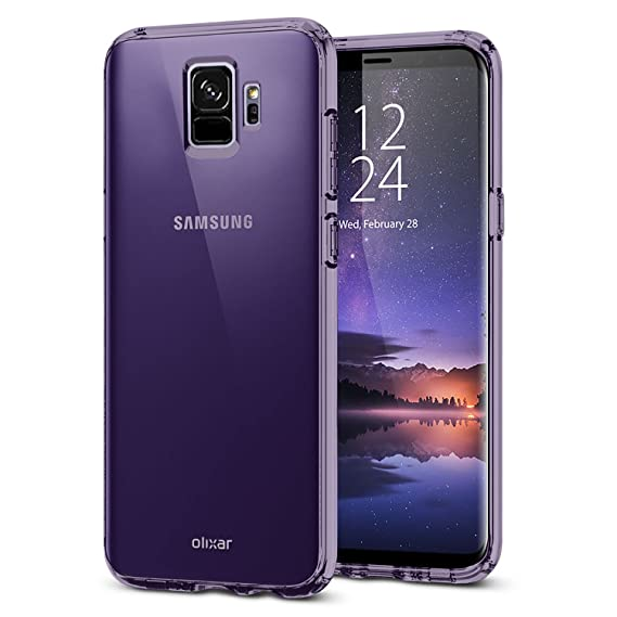 the latest aff02 ab3e4 Amazon.com: Olixar Samsung Galaxy S9 Slim Clear Case Soft Gel Cover ...