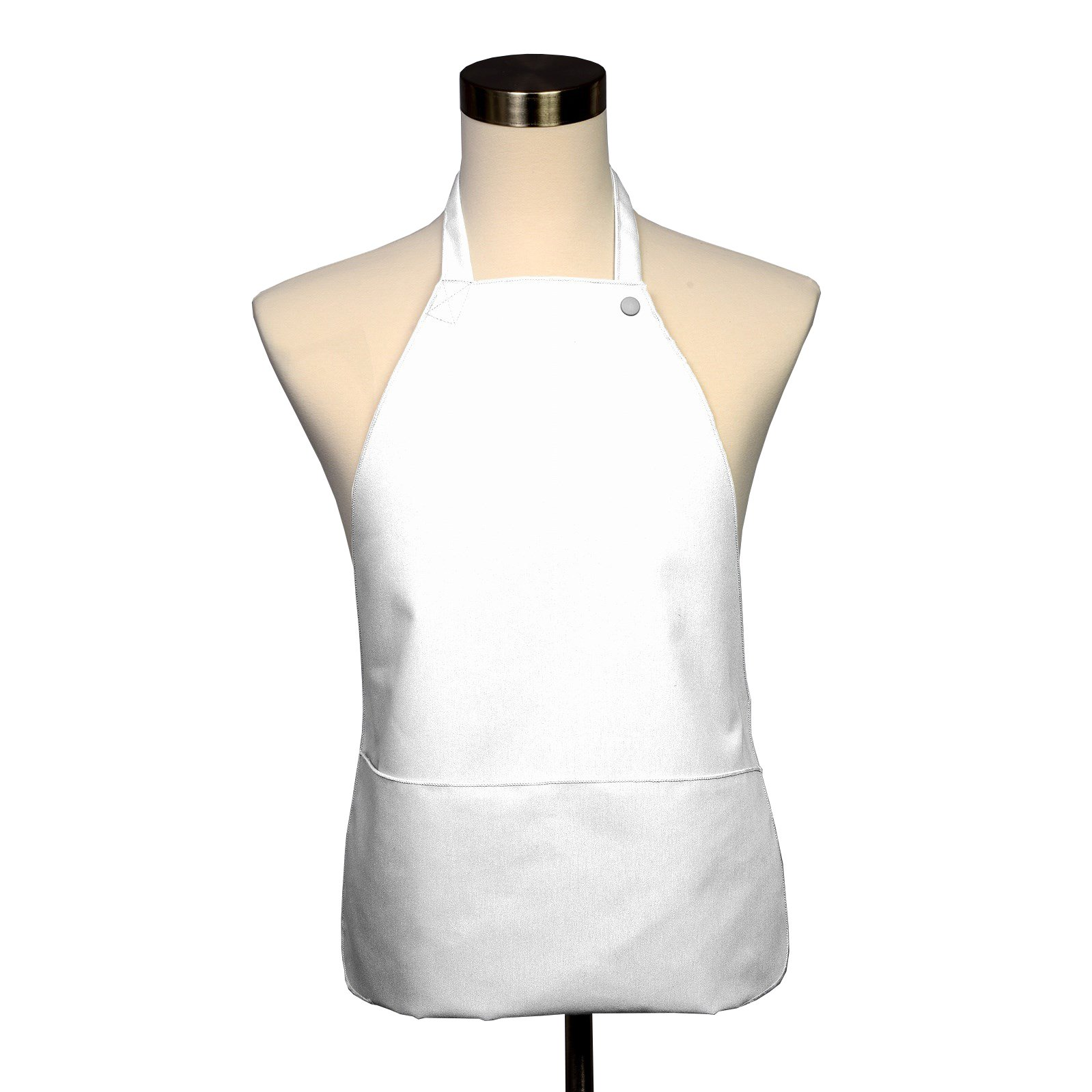 Adult Bib 25 Pack - Covered with Care Assorted Colors Available! (White) by Fabric Textile Products