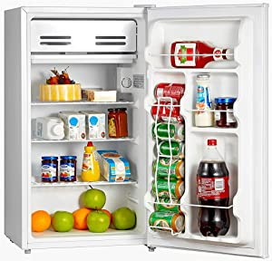 Smad Mini Fridge without Freezer 3.2 Cu.Ft Compact Refrigerator for Dorm Office Bedroom, Low Noise, Reversible Door, White